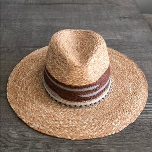 Zara Free People Style Natural Straw Fedora M